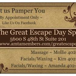The Great Escape Day Spa Massage 5600 S 48th St
