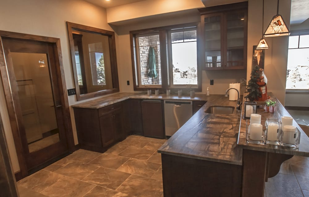 Photo Of Brothers Construction   Littleton, CO, United States. Sandalus  Satin Granite Bar