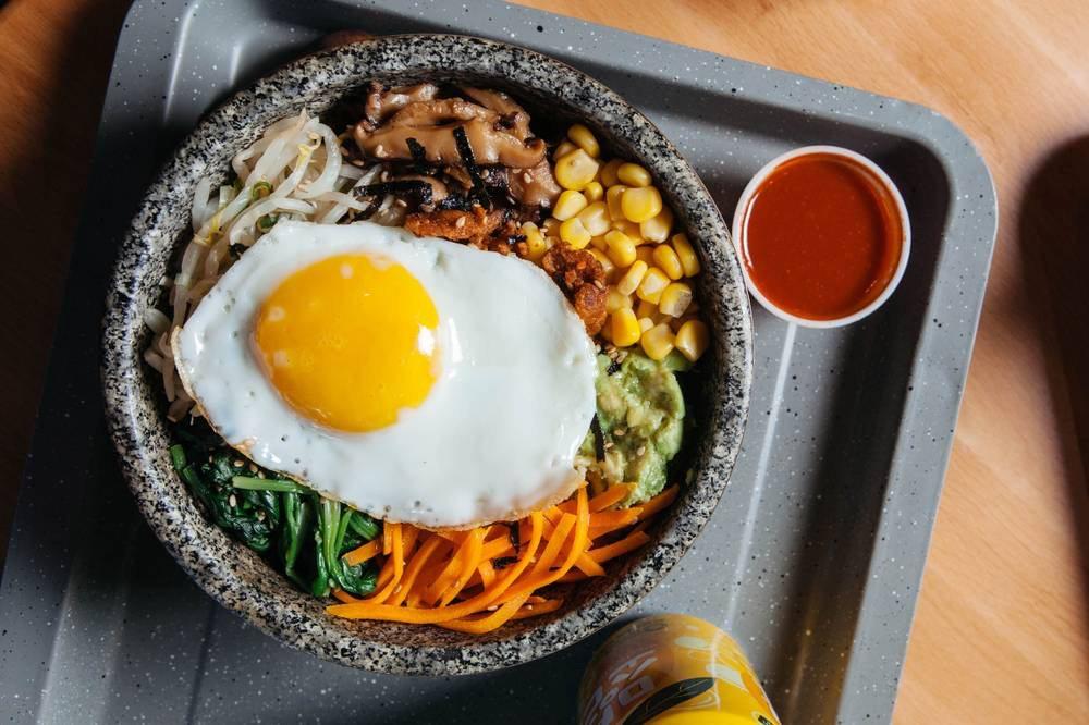 Food from BIBIM KITCHEN Korean Rice Bar