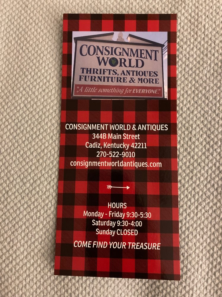 Consignment World And Antiques: 344 B Main St, Cadiz, KY