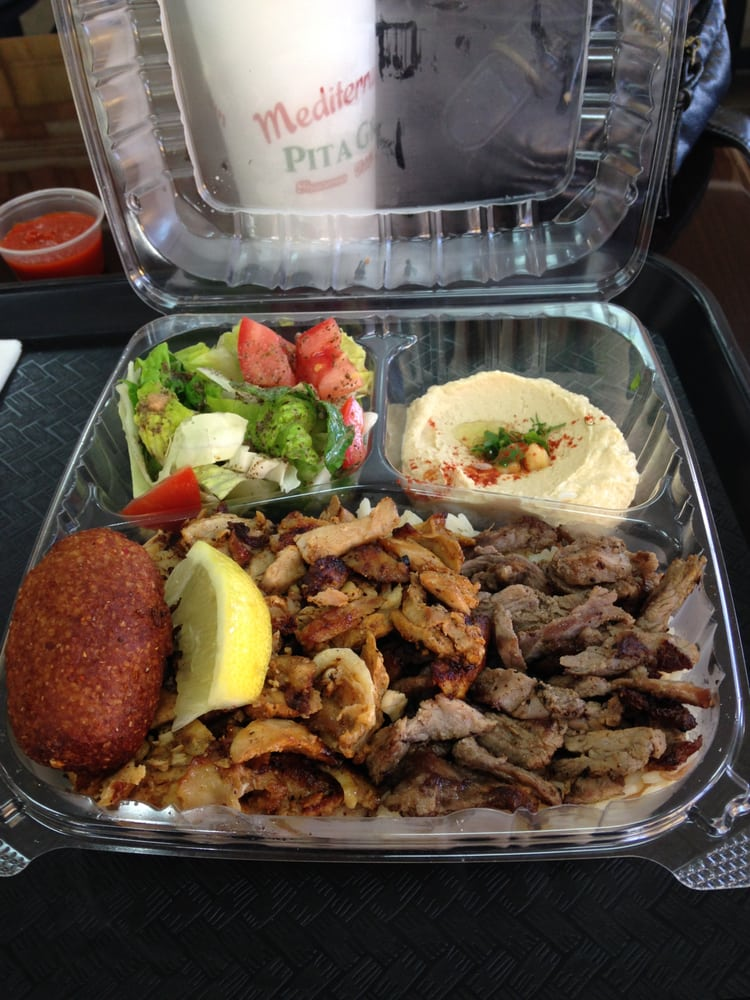 Food from Mediterranean Pita Grill