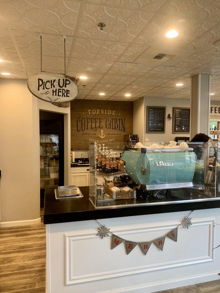 Topside Coffee Cabin: 215 Wilkes St, Steilacoom, WA