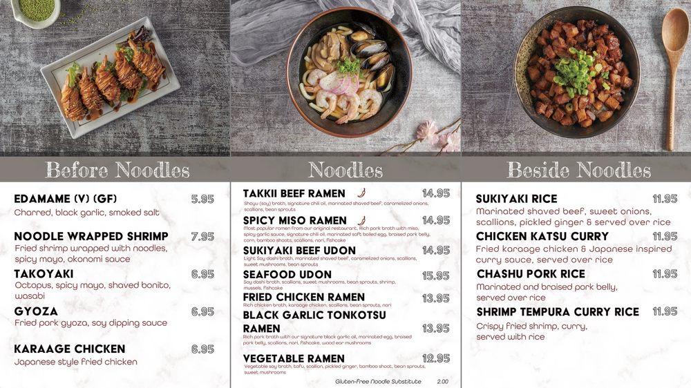 Food from Takkii Ramen - Allentown