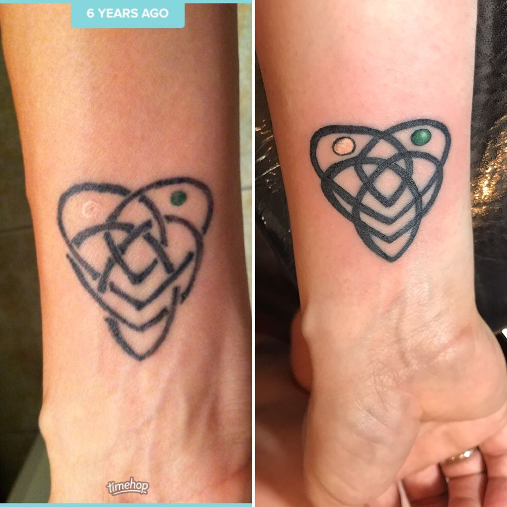Secret Redid My Celtic Symbol For Motherhood W My Kids Birthstones