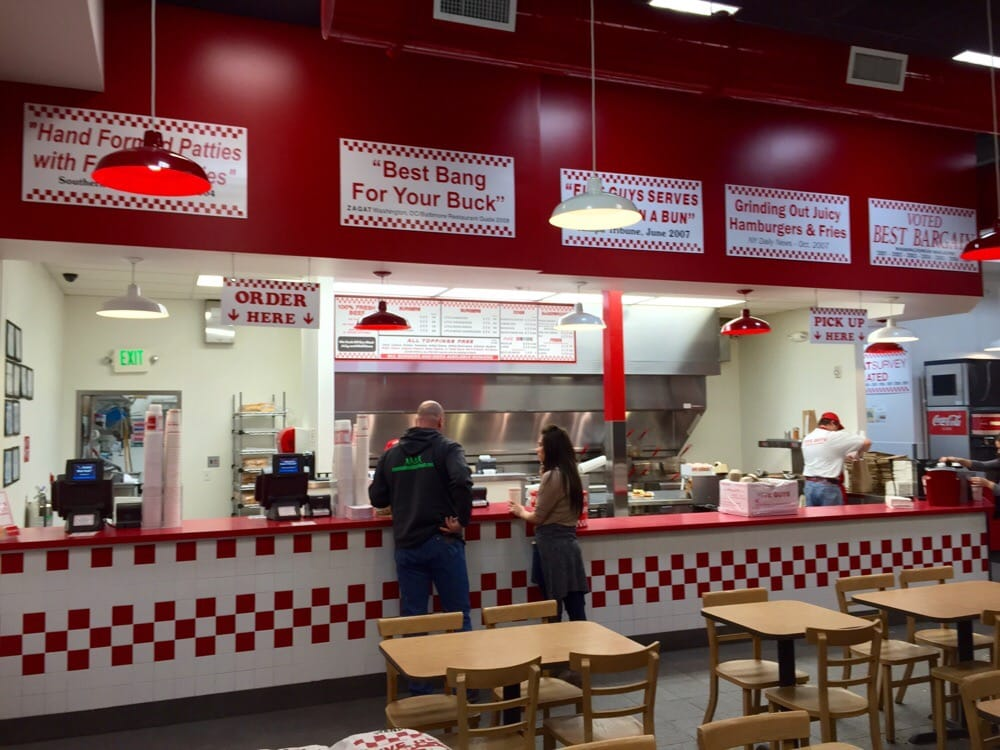 P O Of Five Guys Vancouver Wa United States Five Guys Order Counter