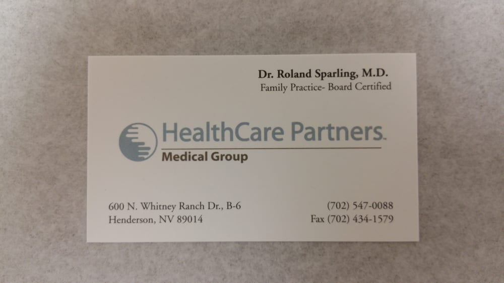 Health Care Partners - Family Practice - 600 North Whitney Ranch Dr ...