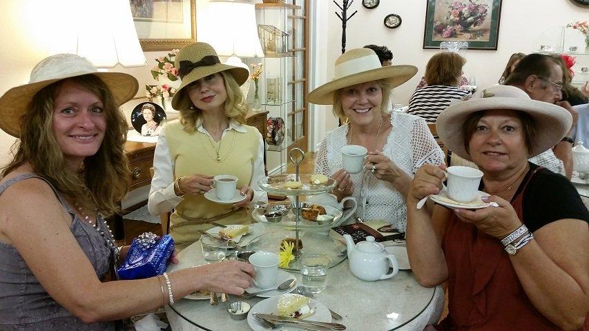 Enjoying Our Tea At Willy S British Emporium Yelp