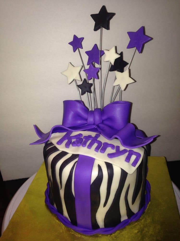 Zebra Birthday Cake Zebra Pattern Chocolate Strawberry Cake With