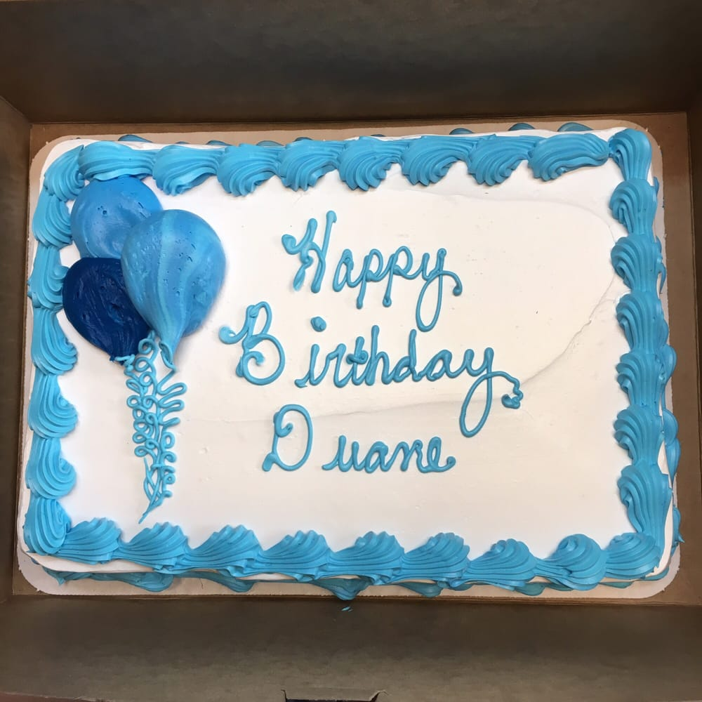 14 Sheet Cake With Whipped Icing And Personalization Just A