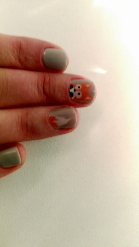 Gelish #73 plus Jamberry faux foxes. Tonie did the no chip and they ...
