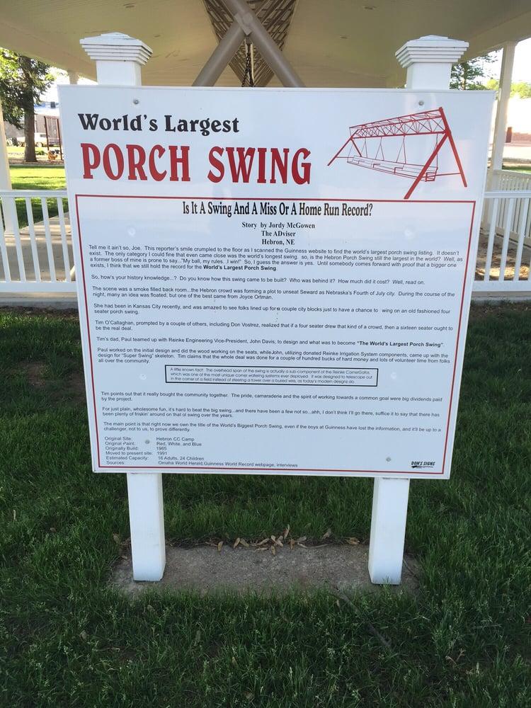 World's Largest Swing: 5th St & Jefferson, Hebron, NE