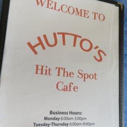 Hit The Spot Cafe Hutto Tx Menu