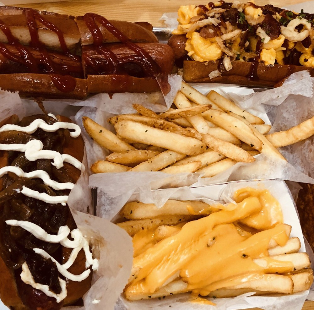 CHAR'D Brisket Dogs + Burgers