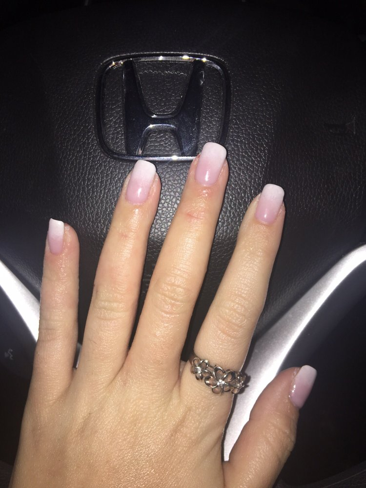 Ombré French tip gel manicure - Yelp
