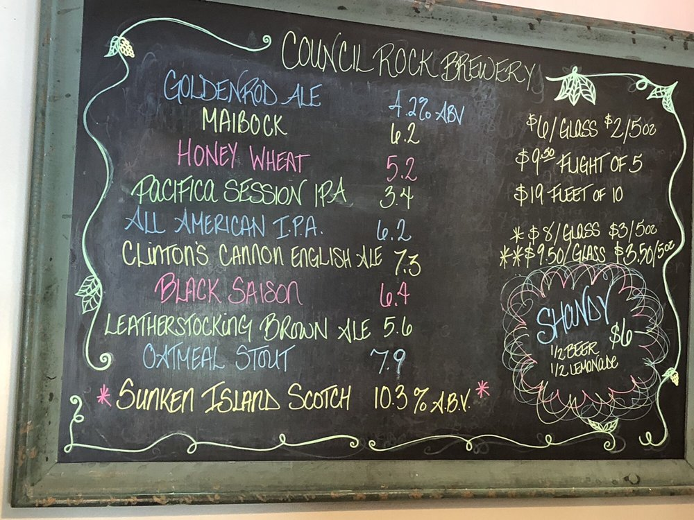 Council Rock Brewery: 4861 State Hwy 28, Cooperstown, NY