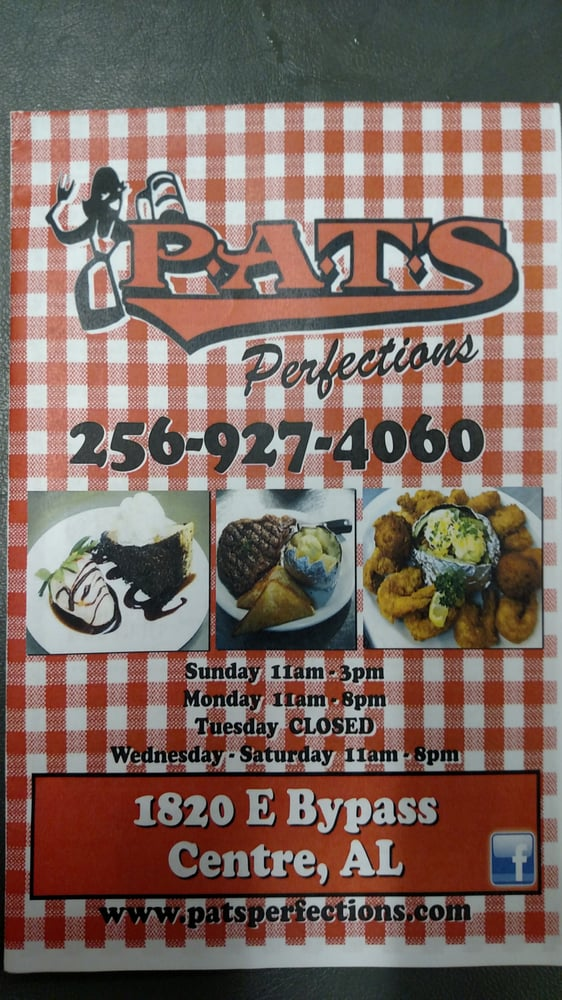 Pat's Perfection: 1820 E Bypass, Centre, AL