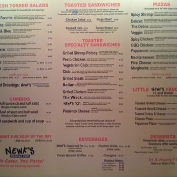 Unforgettable image with newks printable menu