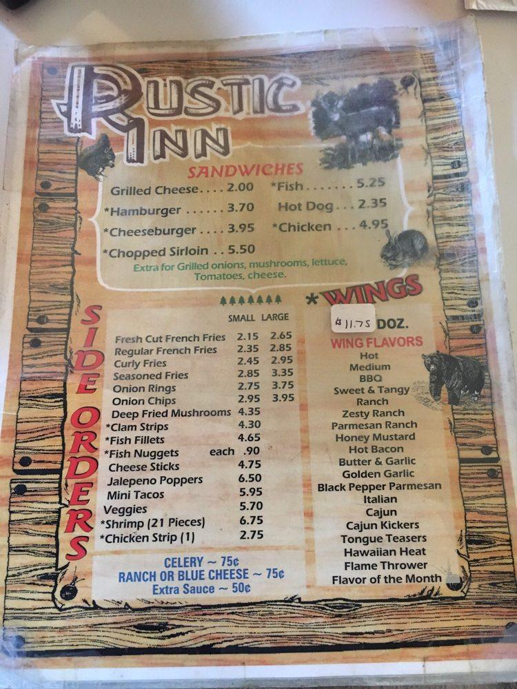Rustic Inn Restaurant Bar: 12685 Main, Hydetown, PA