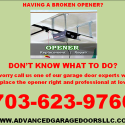 Photo Of Advanced Garage Doors, LLC   Lorton, VA, United States. Broken