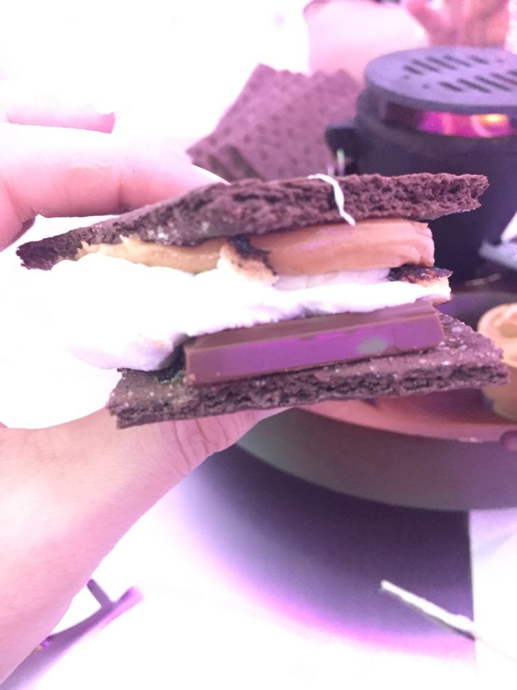 Make your own smores with chocolate graham crackers pb and banana photo of snowopolis anaheim ca united states make your own s solutioingenieria Gallery