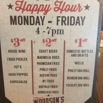 Woodson S Local Tap And Kitchen Menu