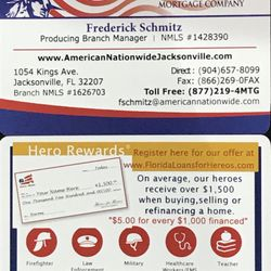 Frederick Schmitz- American Nationwide Mortgage Company