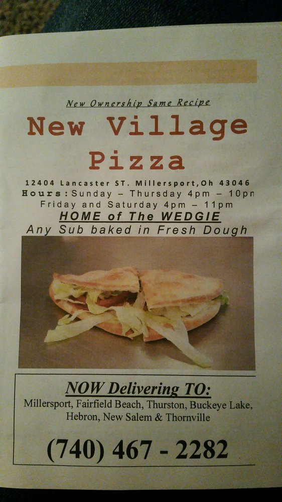 New Village Pizza: 12404 Lancaster St, Millersport, OH