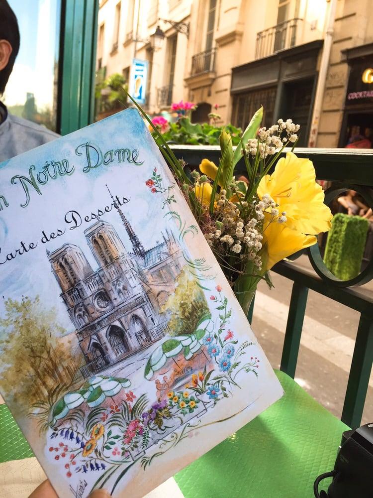 Restaurant jardin notre dame fransk 2 rue petit pont for Restaurant jardin