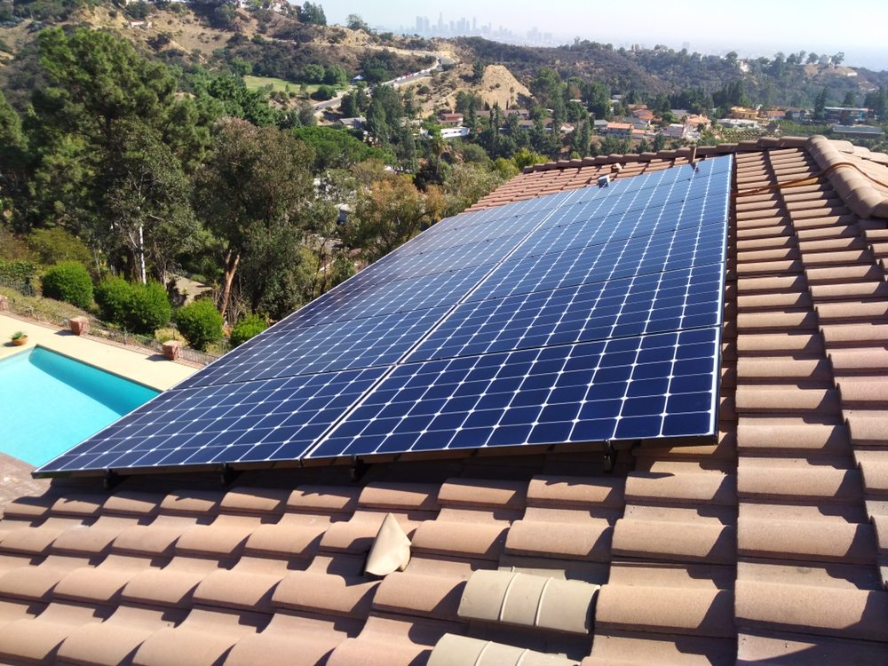 A nice little solar array up in the Hollywood Hills  You can