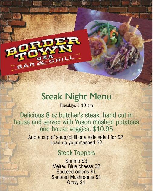 Bordertown Bar & Grill: 807 Main Ave E, West Fargo, ND