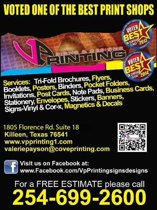 Vp printing signs designs printing services 1805 florence rd killeen tx phone number yelp