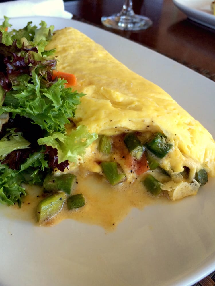 Today 39 S Omelet Of The Day With A Side Of Greens Yelp