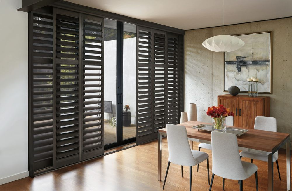 Hunter Douglas Bypass Shutter On Sliding Glass Door Yelp