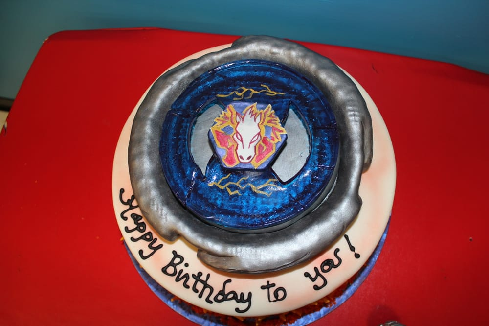 My Sons Beyblade Birthday Cake He Was Over The Moon Thanks Debbie
