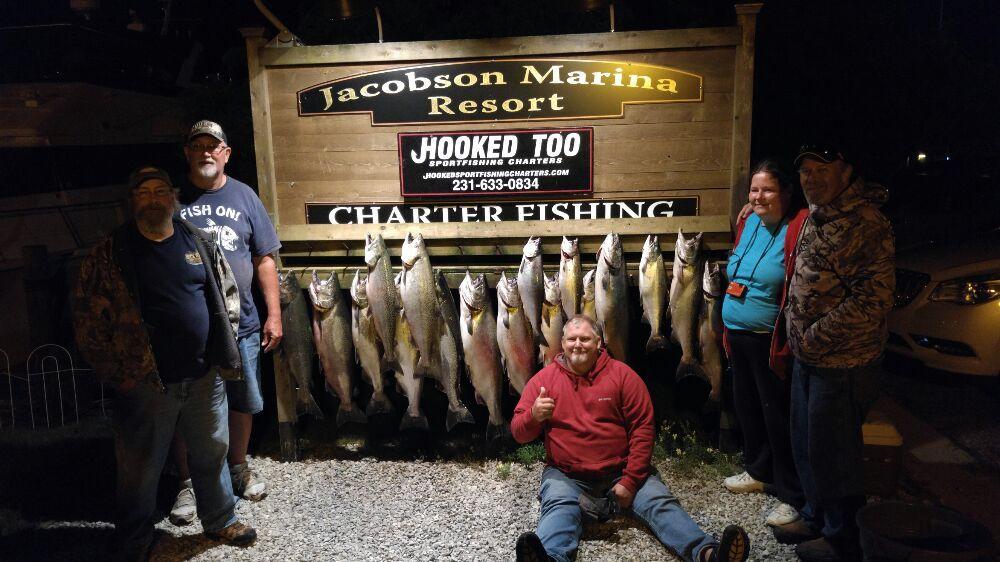 Hooked SportFishing Charters: 15 4th St, Frankfort, MI