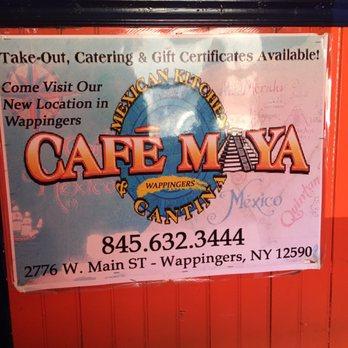 Menu Cafe Maya Fishkill