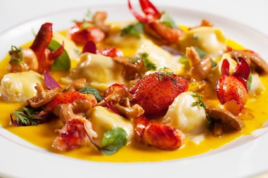 Try the Burrata Agnolotti with Lobster, Chanterelle mushrooms and Chef Michael Laplaca's corn ...
