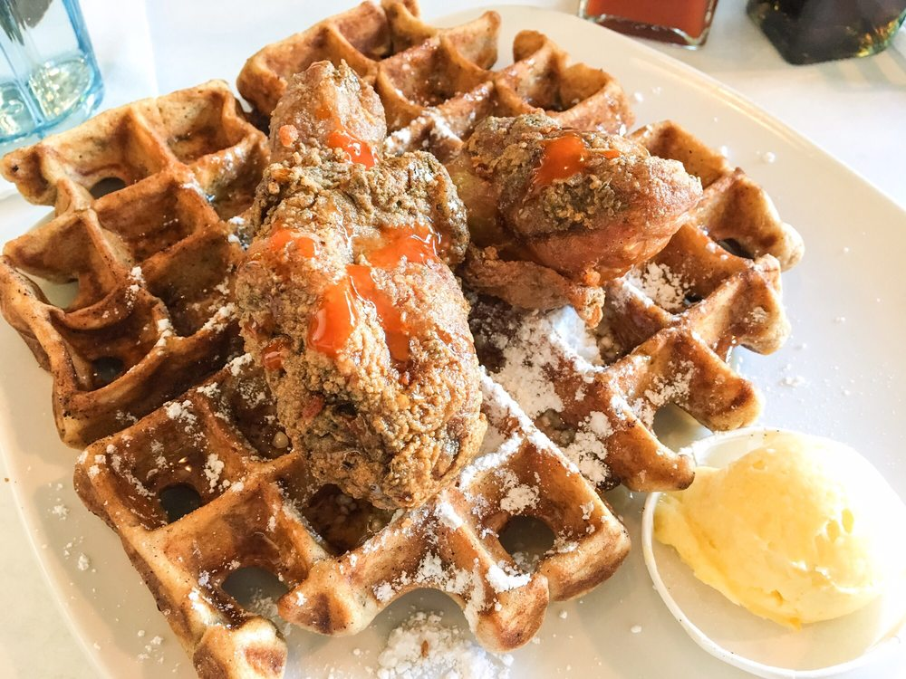 Food from Dame's Chicken & Waffles