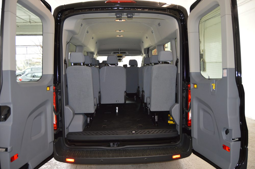 Mid Roof Transit Rear Seat Removed For Luggage Storage