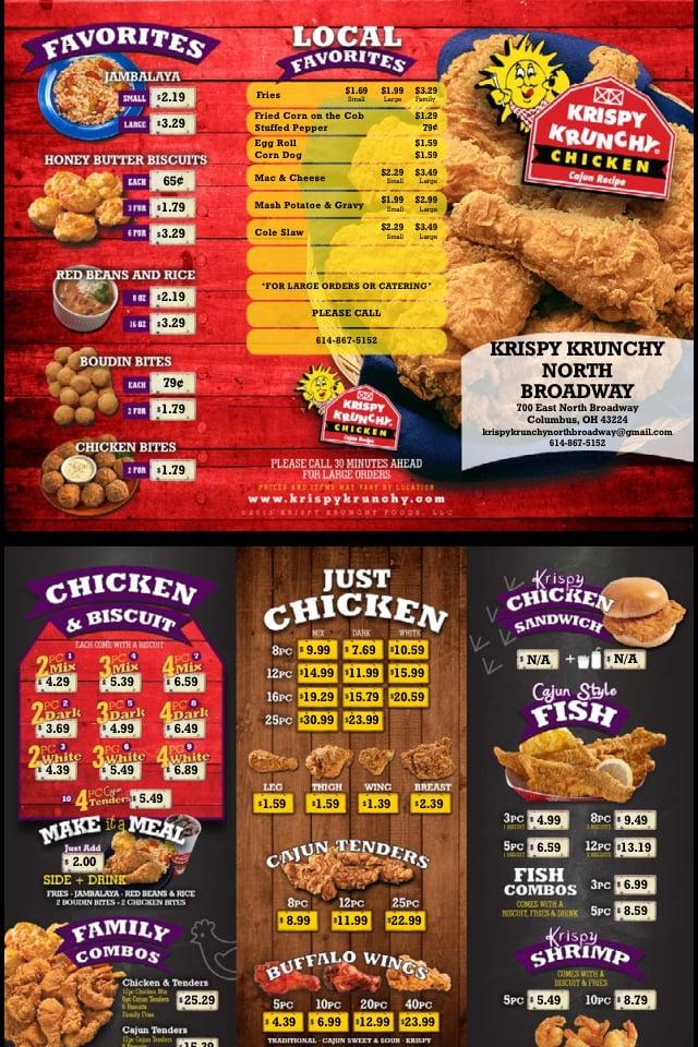 Just Like Home Toy Restaurant Menu : Krispy krunchy chicken closed photos reviews