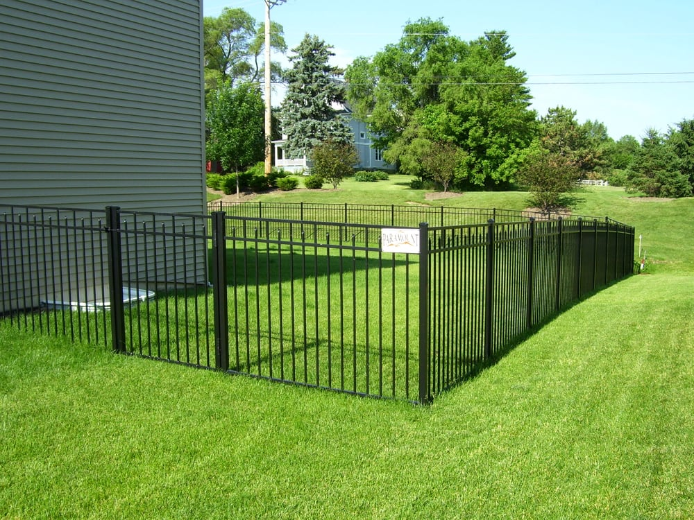 Black Aluminum Ornamental Enclosed Spear Fence Yelp