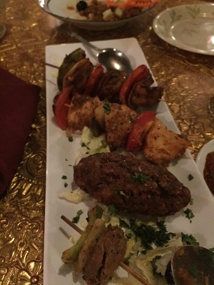 Kebab appetizer lamb on bottom yelp for Aicha moroccan cuisine san francisco