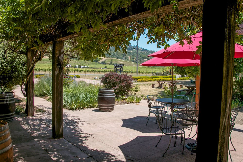 Enjoy Our Patio Area Overlooking Our Anderson Valley Pinot Noir