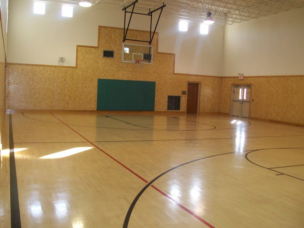 Full size indoor basketball court yelp for Indoor basketball court installation