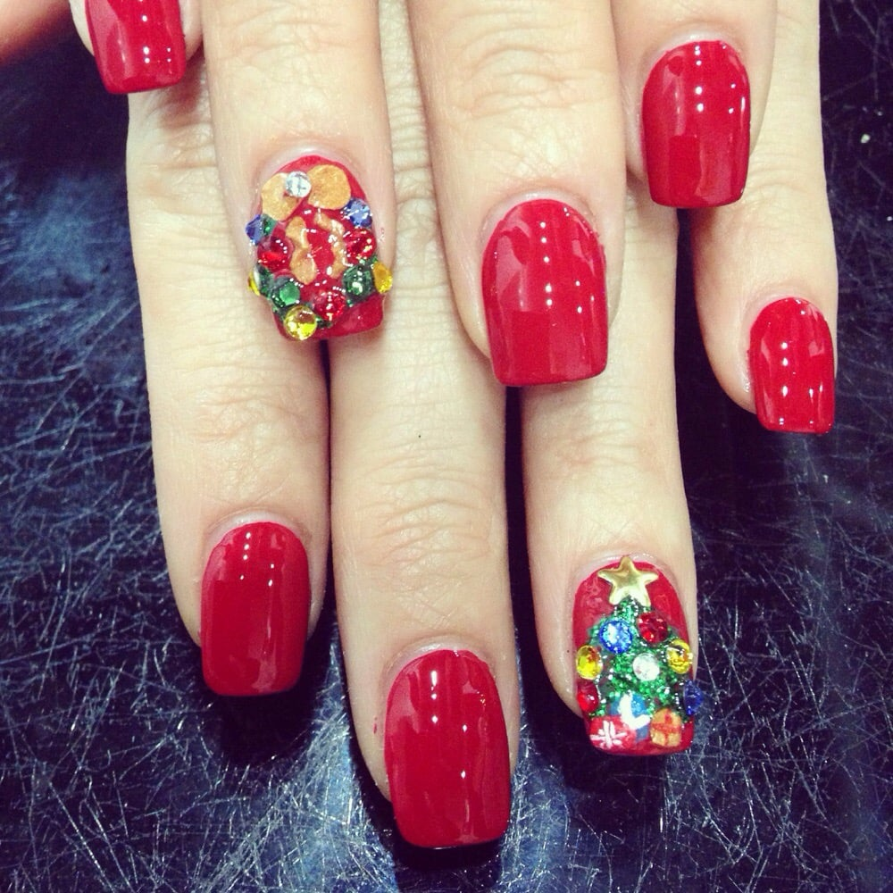 Mobile Nail Spa Los Angeles: Christmas Nails By Neco