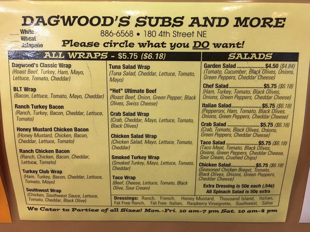 Dagwood's Subs: 180 4th St NE, Watertown, SD