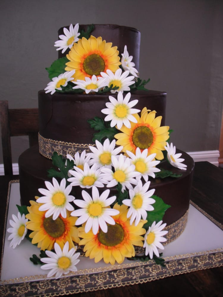Wedding Cakes With Sunflowers And Daisies Cake Recipe