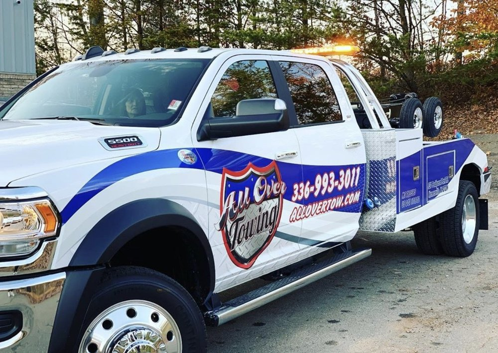 All Over Towing: 150 Peddycord Park Rd, Kernersville, NC