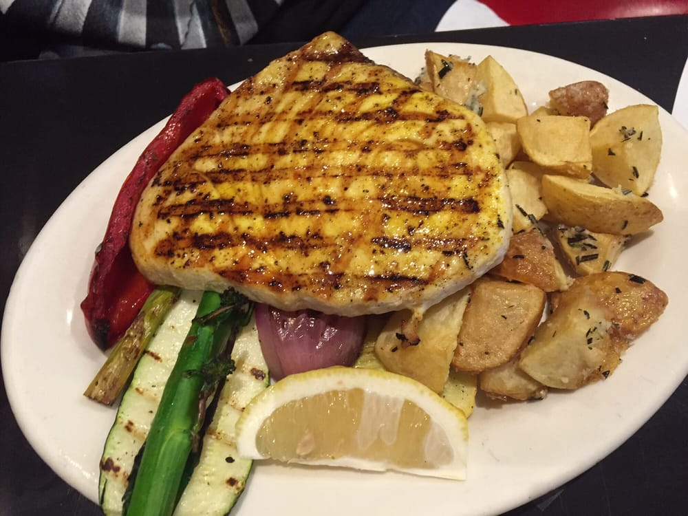 Grilled swordfish with lemon pepper grilled veggies and for Bluesalt fish grill