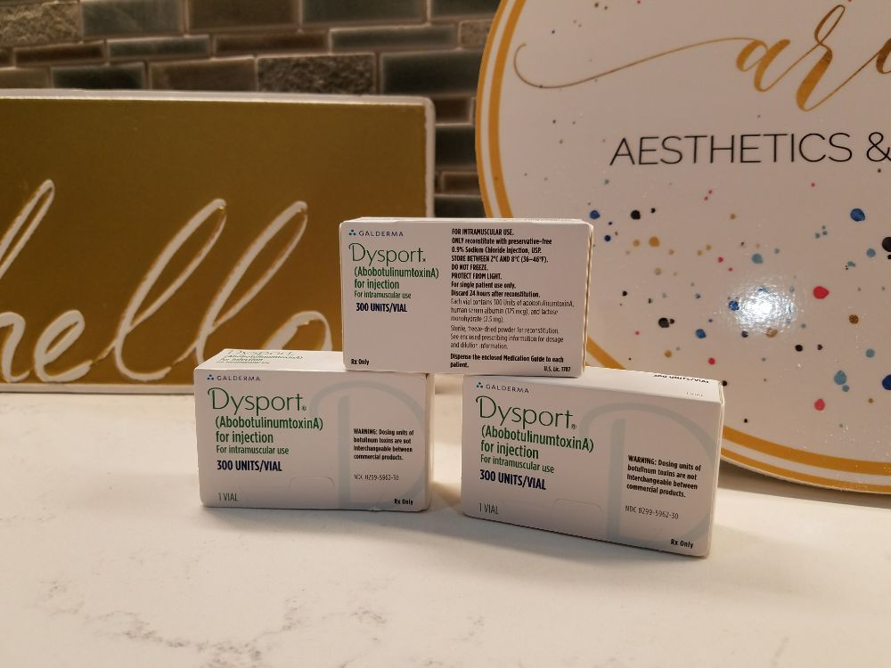 One of our favorite products: Dysport! A wrinkle modulator